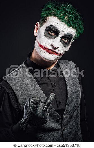 Crazy Joker Face Halloween