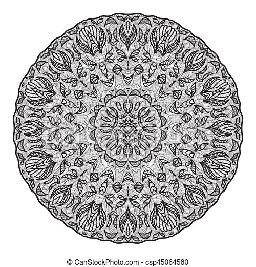 Mandala Template   Crazy Mandala Template For Coloring Book Zendoodle Round Zentangle Round Ornament Lace Pattern For Your Design