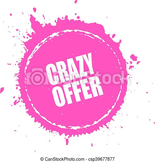Crazy offer splash splatter - csp39677877