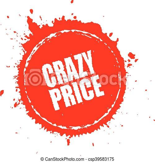 Crazy price splash icon - csp39583175