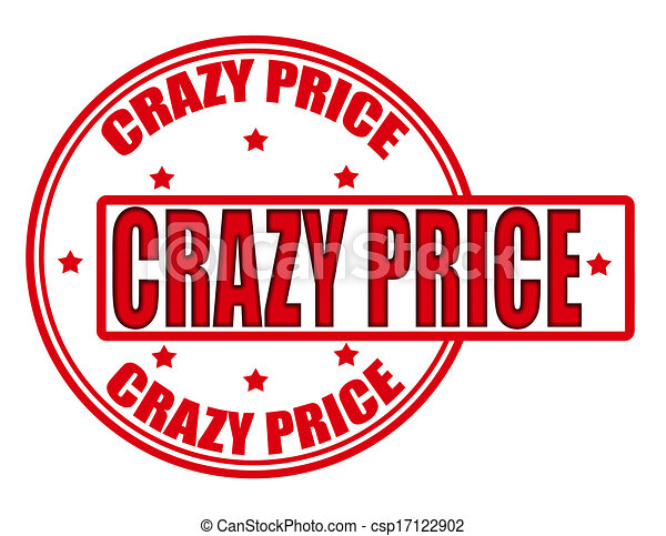 crazy price. stamp with text crazy price inside, vector illustration.