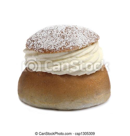 Cream bun (semla) - csp1305309