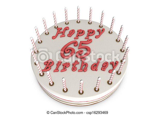cream pie for 65th birthday - csp16293469