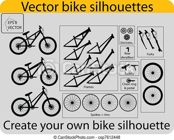 create bike silhouettes - csp7612448