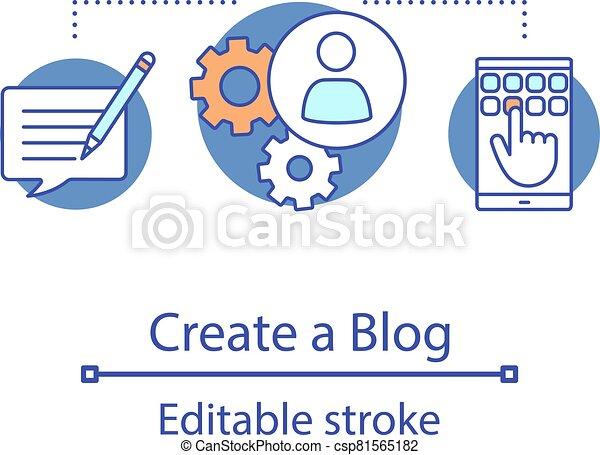 Create blog concept icon - csp81565182