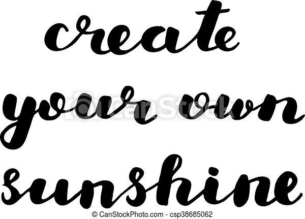 create your own sunshine brush lettering create your own sunshine rh canstockphoto com make your own clip art video make your own clipart for free