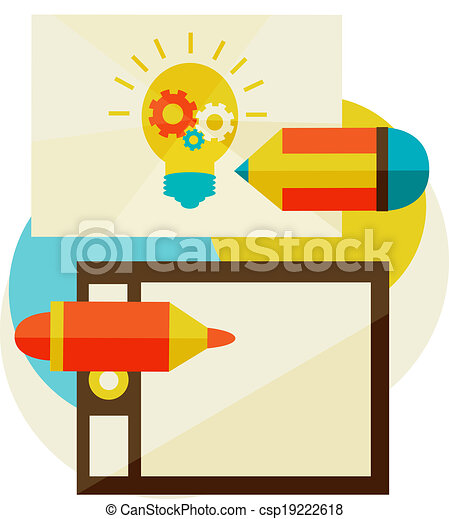 creation of ideas - csp19222618