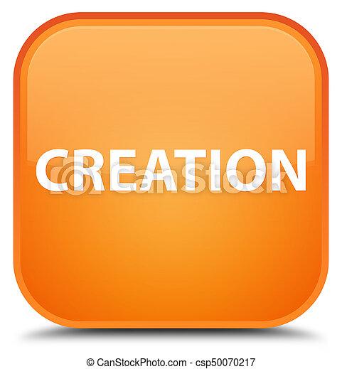 Creation special orange square button - csp50070217