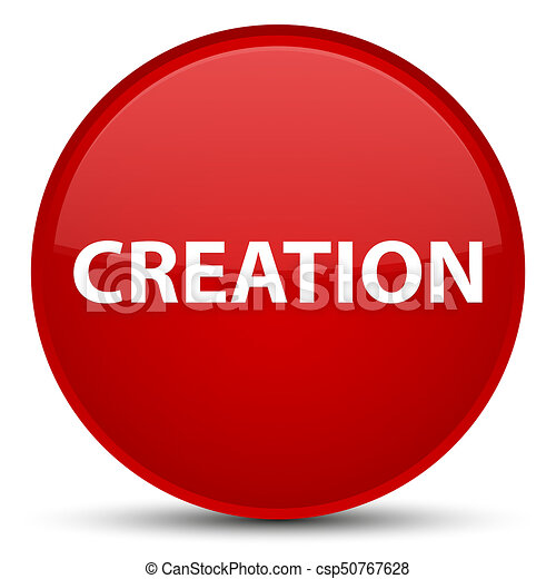 Creation special red round button - csp50767628