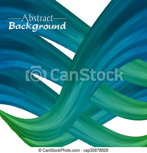 Creative abstract background for your design. Green and blue colors - csp35878828