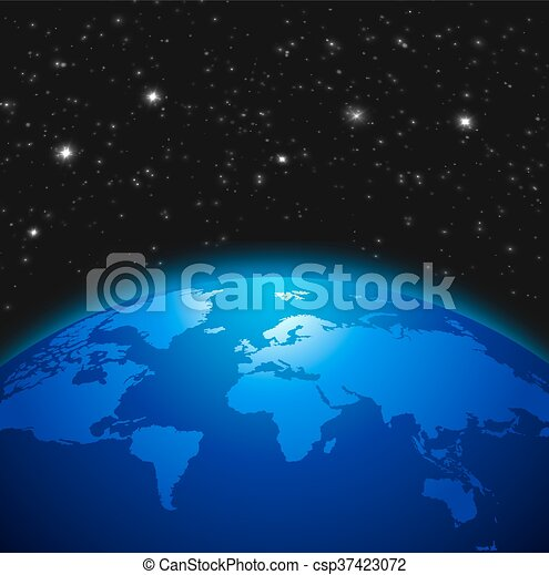 Creative abstract global communication scientific concept creative abstract global communication scientific concept space view of earth planet globe with world map gumiabroncs Gallery