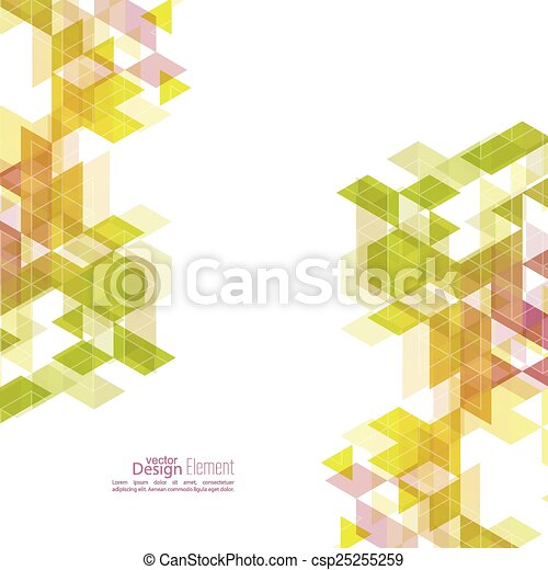 Creative abstract triangle pattern.  - csp25255259