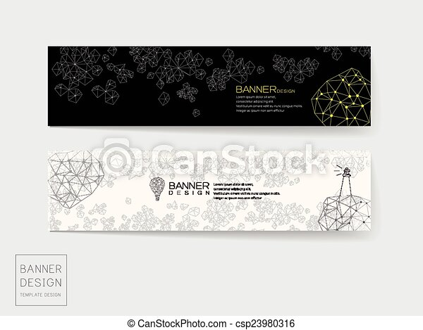 Creative Banner Template Design With Elegant Elements