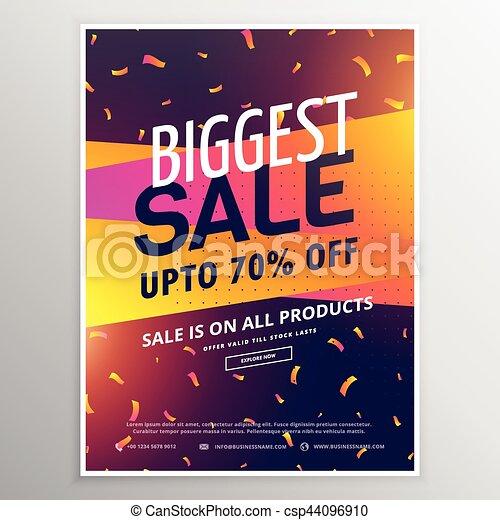 Creative Biggest Sale Discount Voucher Design Vector  Discount Voucher Design