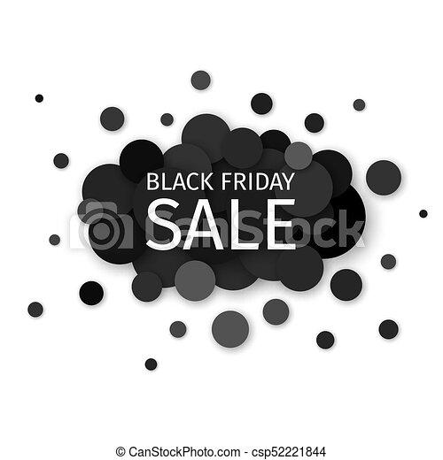 Creative Black Friday Sale Banner Design On A Modern Background Of Black Circles