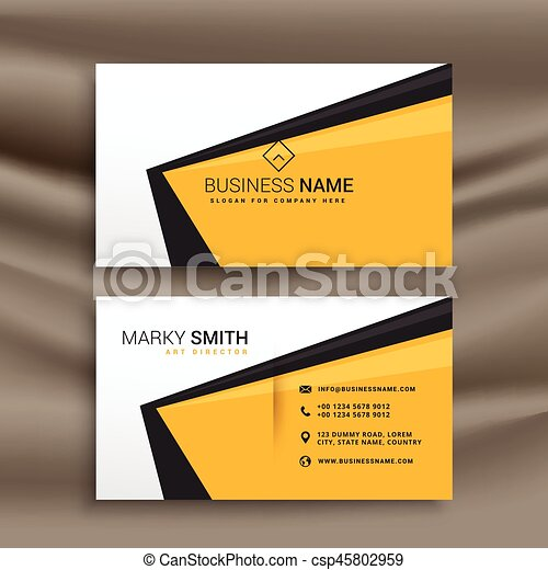 Creative business card design with flat yellow black and white colors creative business card design with flat yellow black and white colors csp45802959 colourmoves