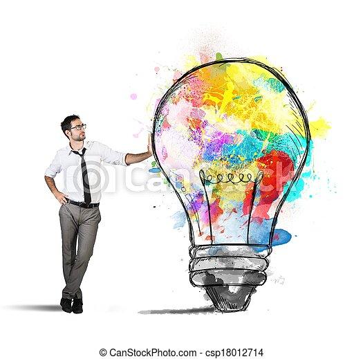 Creative business idea - csp18012714