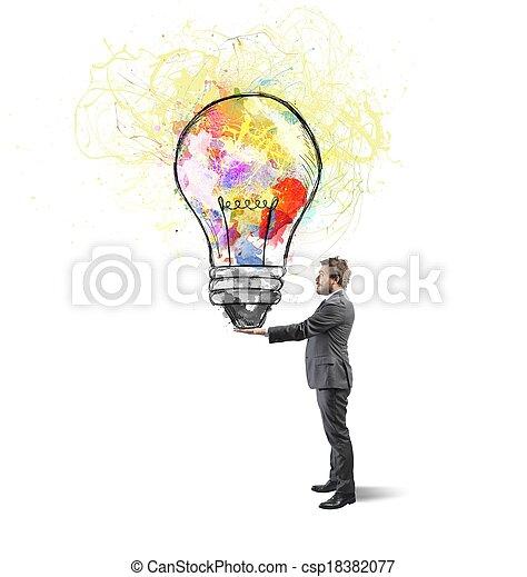 Creative business idea - csp18382077
