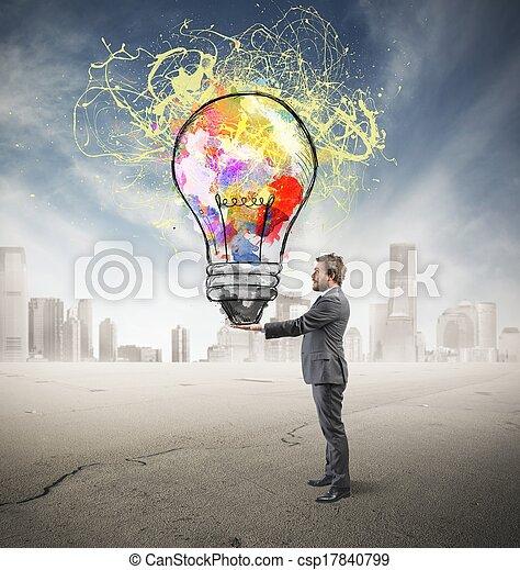 Creative business idea - csp17840799