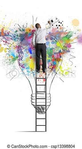 Creative business idea - csp13398804