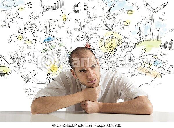 Creative businessman - csp20078780