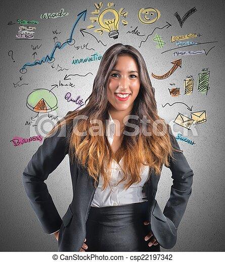 Creative businesswoman - csp22197342