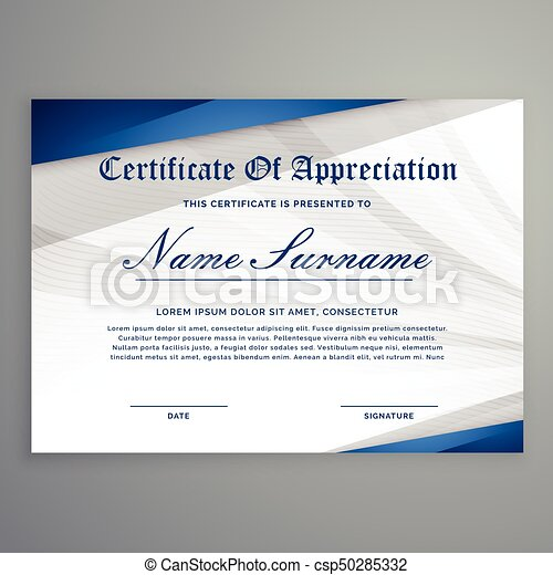Creative Certificate Template With Modern Pattern