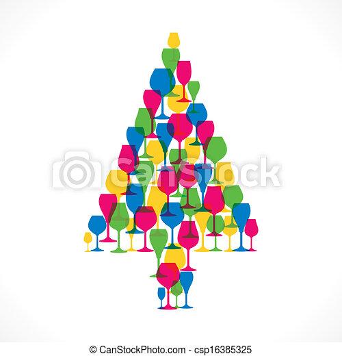 creative christmas tree csp16385325