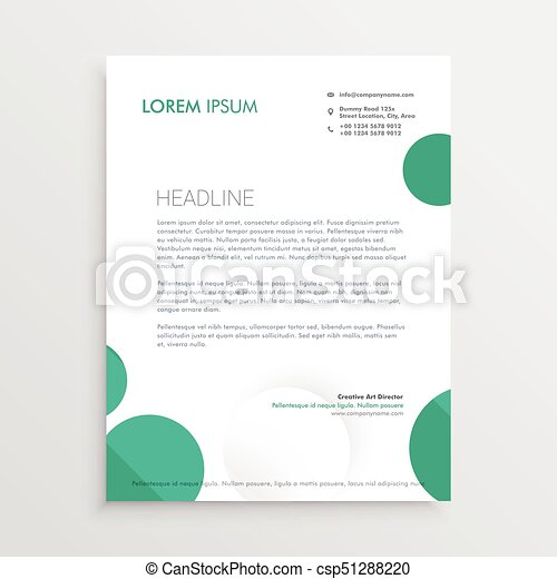 Creative circles letterhead design template vector vector creative circles letterhead design template vector spiritdancerdesigns Image collections