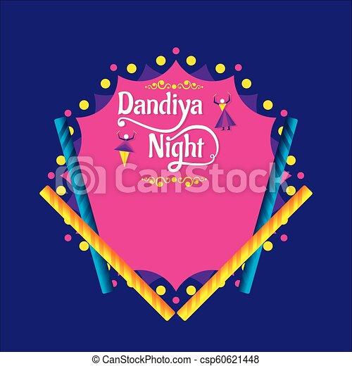 Creative Dandiya Night Invitation Card Design