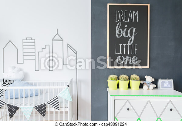 Creative decorations to make a baby room a home - csp43091224