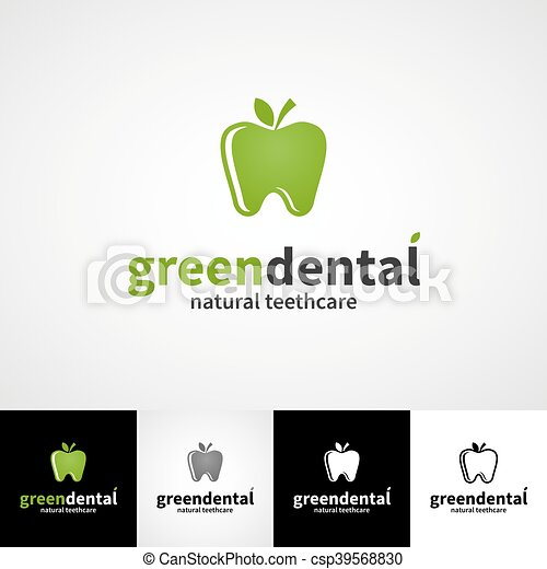 creative dental logo template teethcare icon set dentist clinic