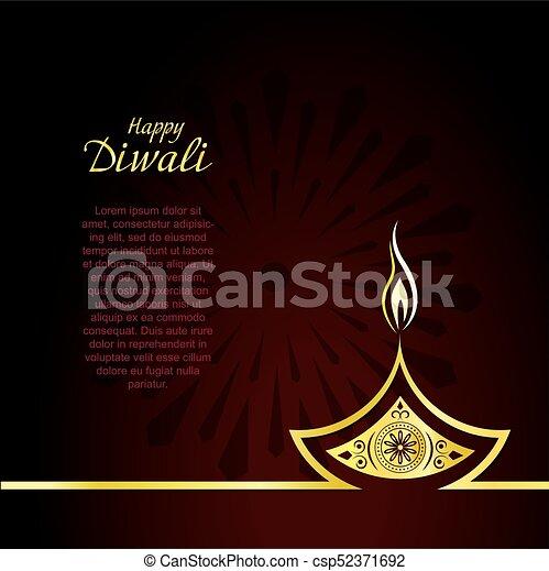 Creative design of burning diwali diya for greeting card vector creative design of burning diwali diya for greeting card vector background m4hsunfo