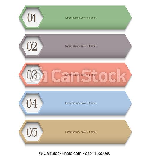 Creative Design template in pastel colors - csp11555090