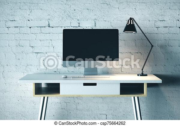 Creative designer desktop - csp75664262