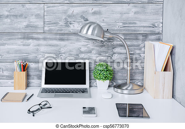 Creative designer workspace closeup - csp56773070