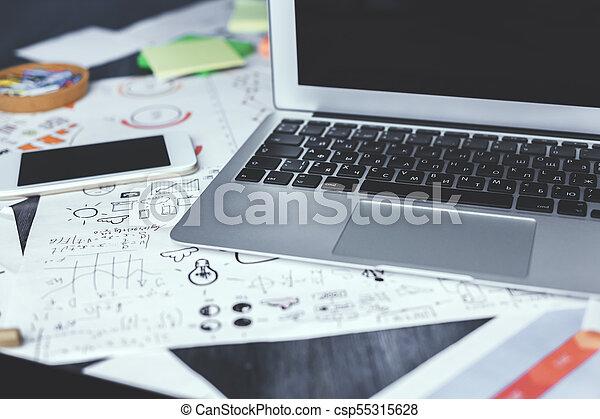 Creative designer workspace - csp55315628