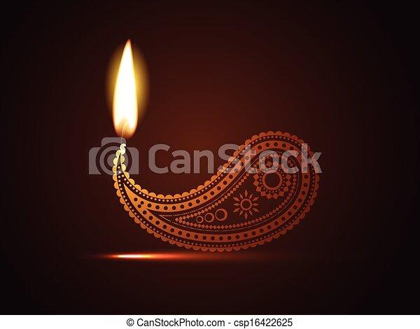 creative diwali diya - csp16422625