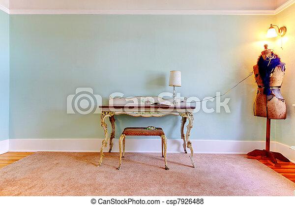 Creative fashion studio room as a home office interior. - csp7926488