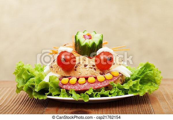 Creative food - the frog king sandwich - csp21762154