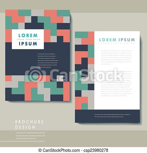 creative geometric poster set template design - csp23980278