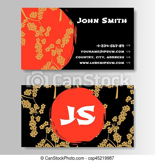 Creative Golden And Red Business Visiting Card Template Pattern
