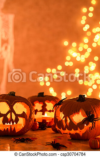 Creative Halloween Jack-o-lanterns - csp30704784