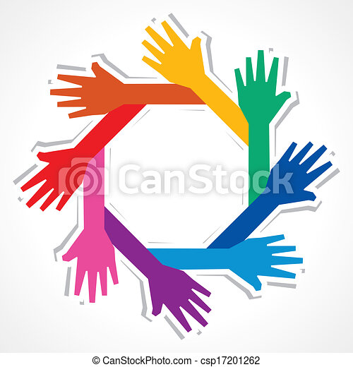 Creative hand background - csp17201262