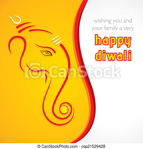 Creative happy diwali greeting card background vector creative happy diwali greeting card csp21529428 m4hsunfo