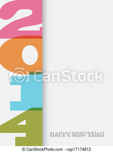Creative Happy New Year 2014 background - csp17174812