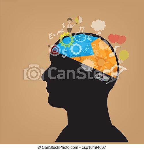 creative head symbol - csp18494067