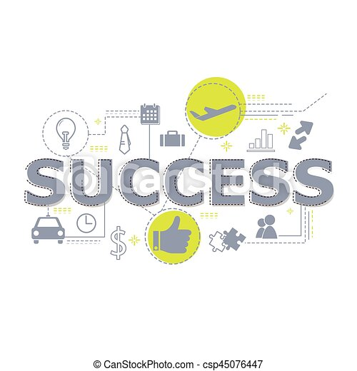 Creative illustration of Success word lettering typography. - csp45076447