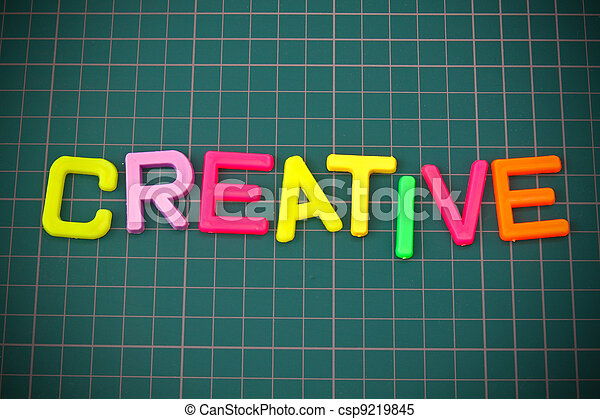 Creative in colorful toy letters oncutting mate - csp9219845