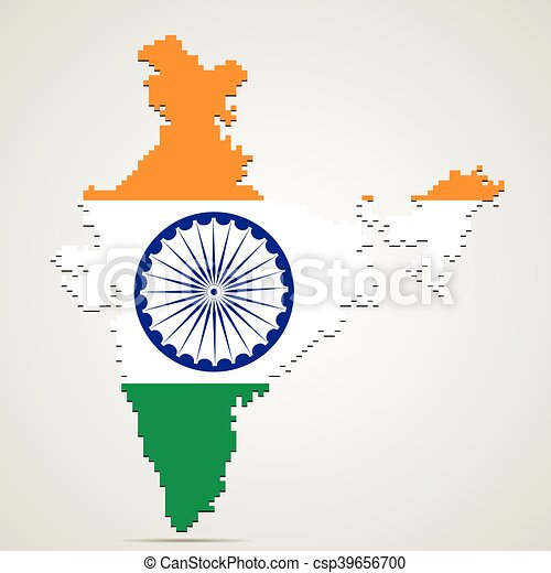 Creative India Map Vector Illustration